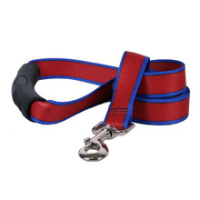 Sterling Stripes Red and Royal Blue Dog Leash