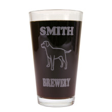 Personalized Pint Glass Beer Mug - Lab