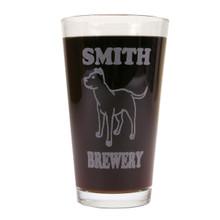 Personalized Pint Glass Beer Mug - Pitbull