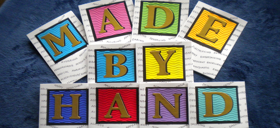 Greeting cards made by hand