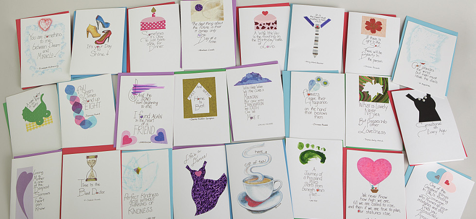 Hand crafted greeting cards for all occasions