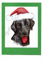 Christmas Black Lab #C656
