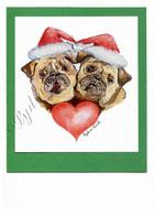 Christmas Pugs #C664