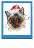 Christmas Siamese #C671