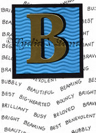 Monogram B Birthday Card