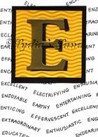 Monogram E Birthday Card