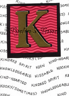 Monogram K Birthday Card