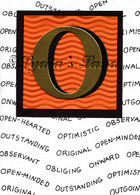 Monogram O Birthday Card