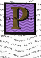 Monogram P Birthday Card