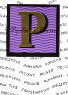 Monogram P Birthday Card