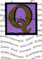 Monogram Q Birthday Card