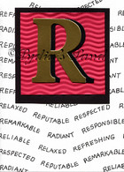 Monogram R Birthday Card