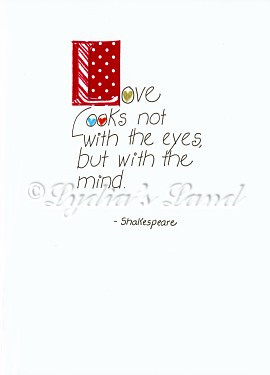 Handcrafted Love - Shakespeare quote