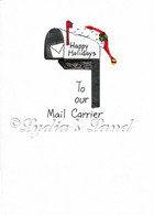 Mail Carrier Christmas card