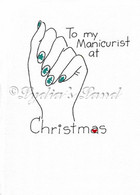 Manicurist Christmas Card