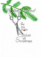 Hair Stylist Christmas card