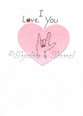 handcrafted love card