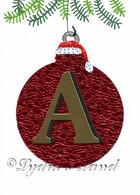 Christmas Monogram A