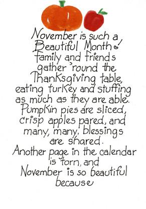 November Birthday Card