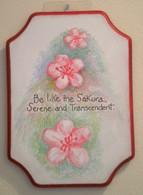 Handmade Cherry Blossom Plaque