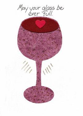 Wine Themed Birthday Card
