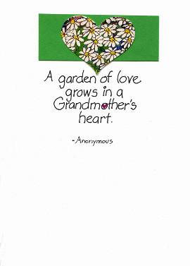 Grandmother's greeting card