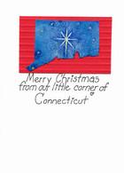 Handmade Connecticut Christmas Card