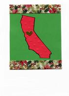 Handmade California Christmas card
