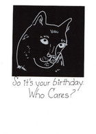 Handmade Birthday Cat Card
