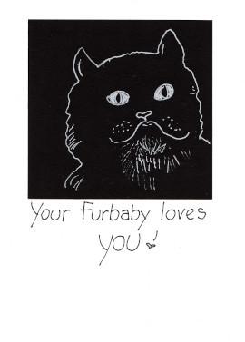 Handmade Birthday Cat card