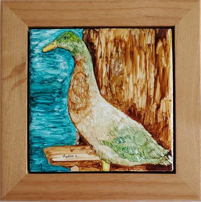 Handmade Duck Tile