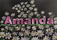Handmade custom name Art