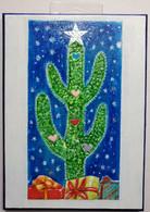 Original art Christmas Cactus