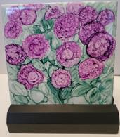 Handpainted ceramic tile