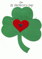 handcrafted St. Patrick's Day card