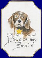 Beagle PlaqueCard