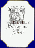 Bulldog PlaqueCard