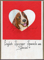 English Springer PlaqueCard