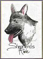 German Shepherd PlaqueCard