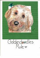 Golden Doodle PlaqueCard