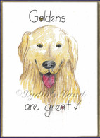 Golden Retriever PlaqueCard