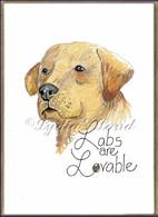 Labrador PlaqueCard