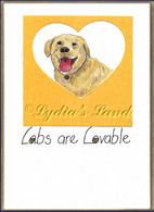 Lovable Lab PlaqueCard