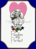 Miniature Poodle PlaqueCard