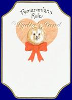 Pomeranian PlaqueCard