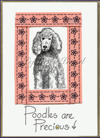 French Poodle PlaqueCard