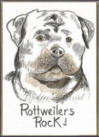 Rottweiler PlaqueCard