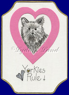Yorkshire Terrier PlaqueCard