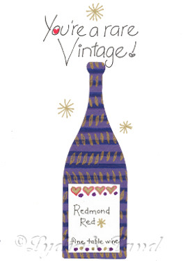 Personalized Wine-themed Birthday Card