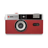 AgfaPhoto Reusable 35mm Film Camera With Flash–Red